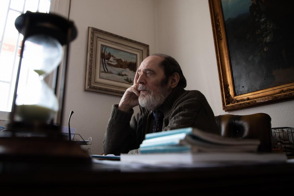 Emilio Rodríguez Menéndez en la entrevista con Vozpópuli