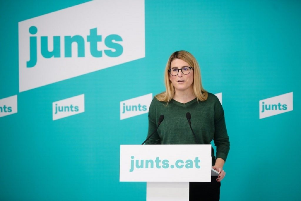 La vicepresidenta de Junts, Elsa Artadi, asegura que el acuerdo con ERC está más cerca.