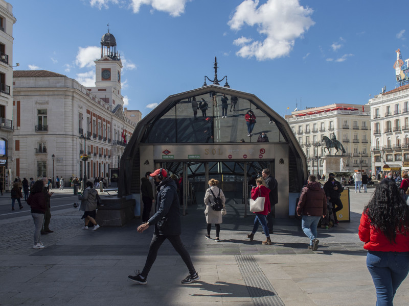 La Puerta del Sol, en Madrid.