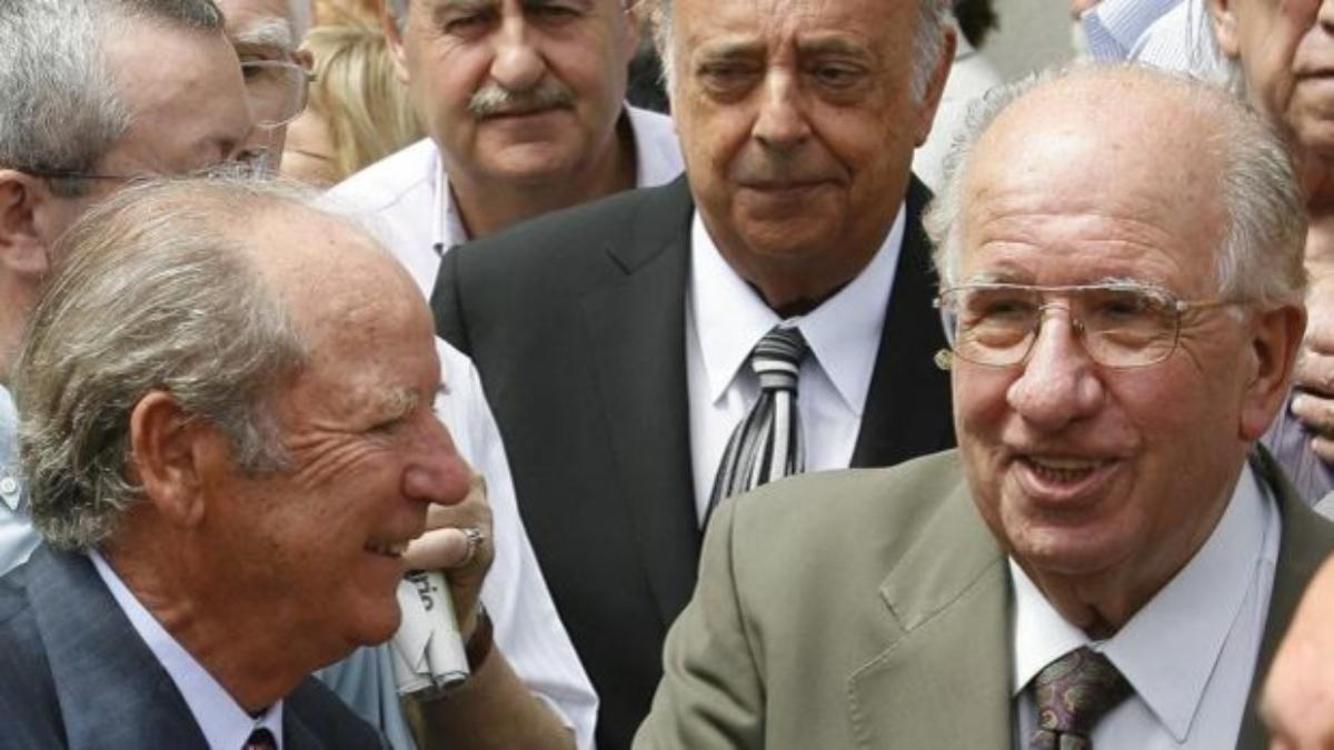 Josep Mussons, junto a Josep lluis Núñez