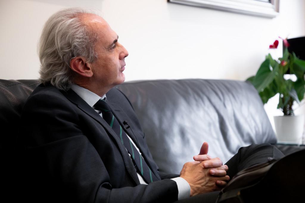 Enrique Ruiz Escudero en un momento de la entrevista