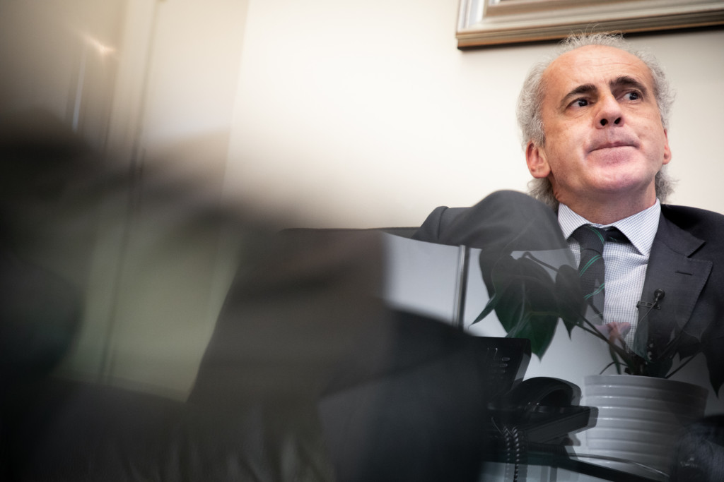 Enrique Ruiz Escudero en un momento de la entrevista.