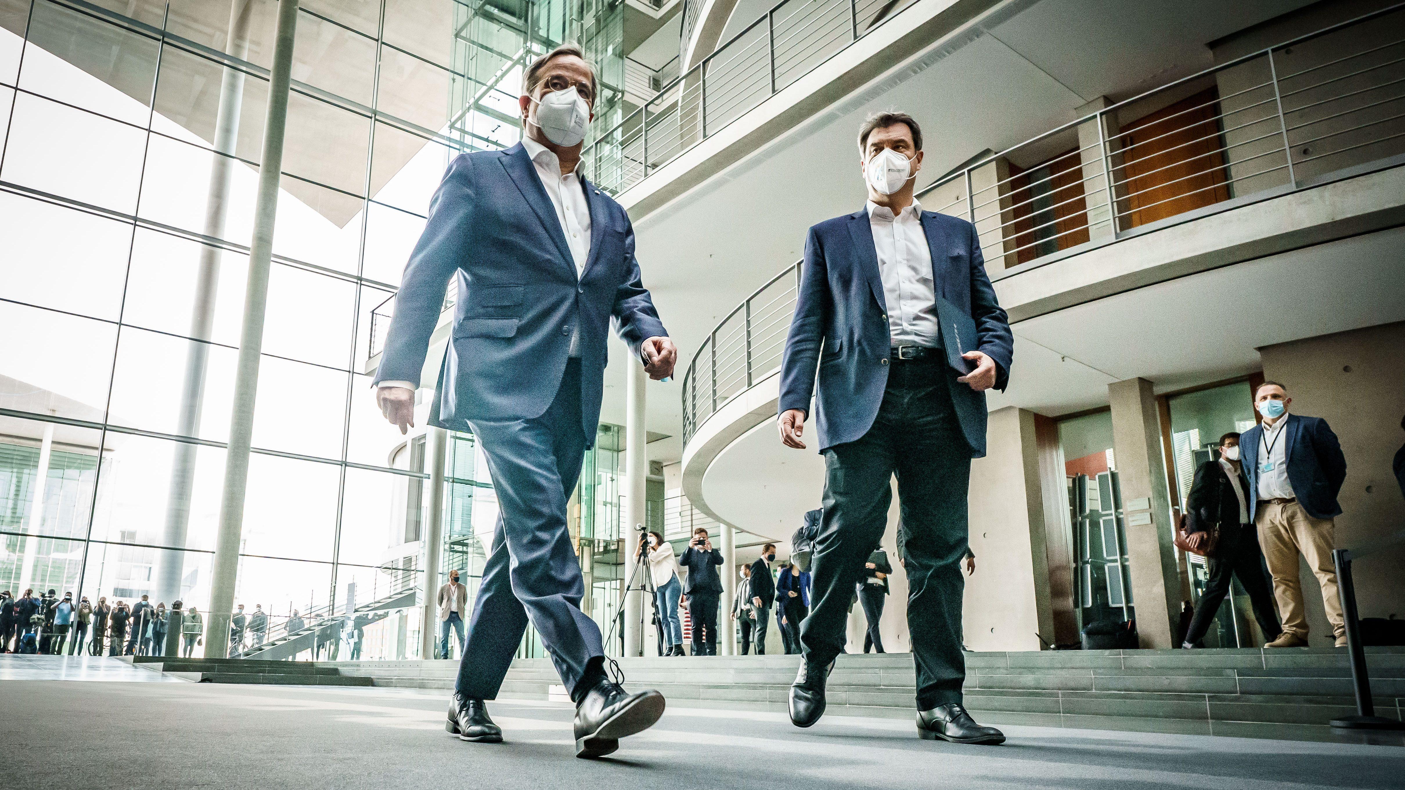 Armin Laschet y Markus Soeder, candidatos para sustituir a Merkel en Alemania.