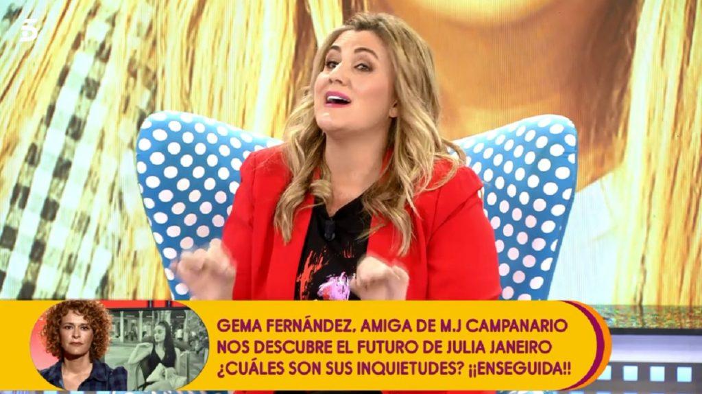 Carlota Corredera le advierte de que si no le deja hablar, le saca del plató