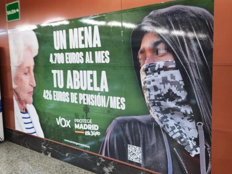 """PSOE e Iglesias denuncian a Vox por su campaña de """"odio y racismo"""""""