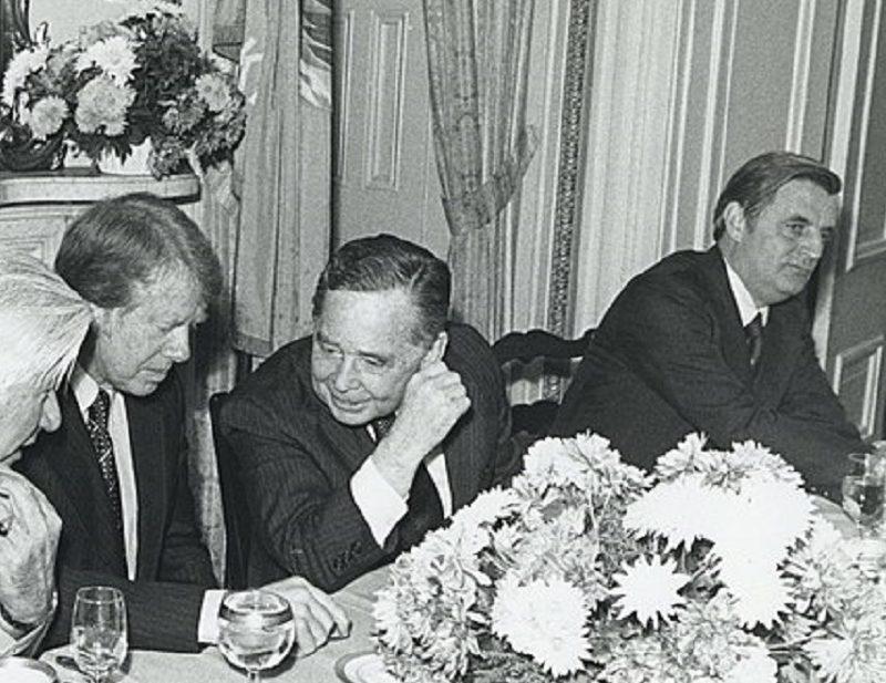Walter Mondale junto a Jimmy Carter