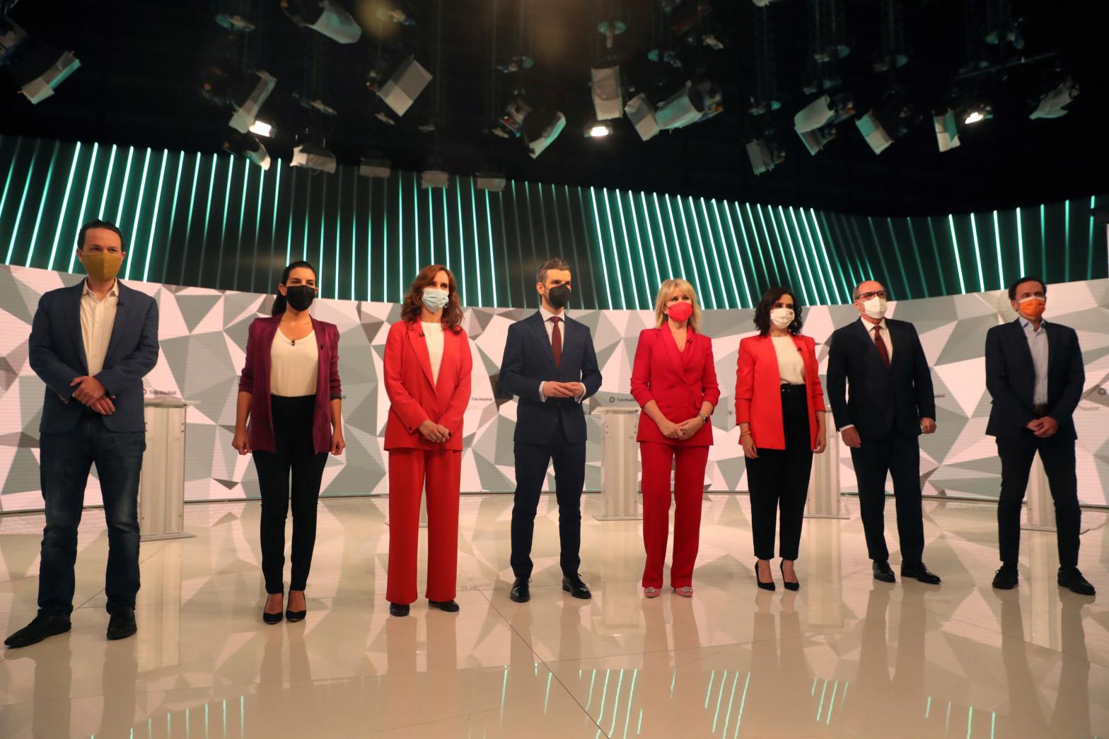 Debate de los candidatos en Telemadrid