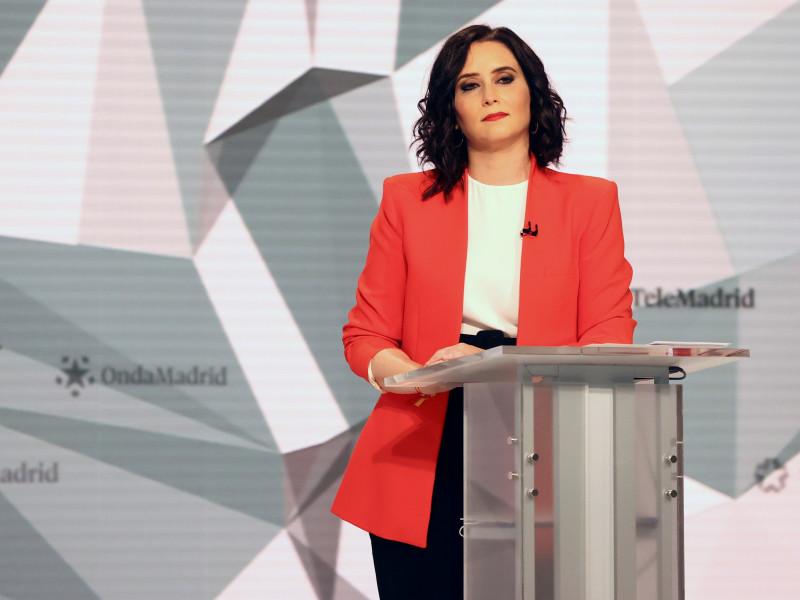 Isabel Díaz Ayuso, en Telemadrid