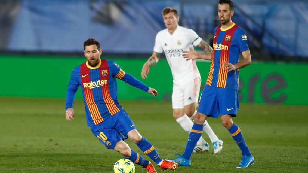 Messi, contra el Real Madrid.