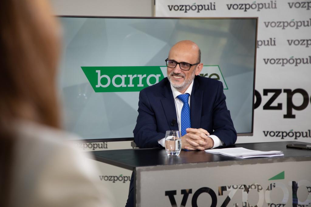 Manuel Pérez-Sala en la entrevista con Vozpópuli