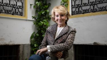 Esperanza Aguirre en la entrevista con Vozpópuli