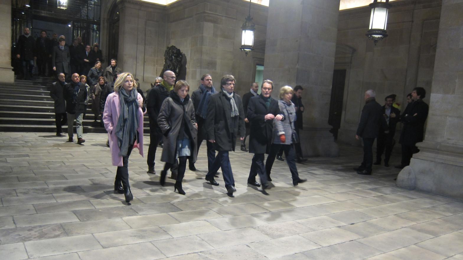 El Tribunal de Cuentas reclama a Puigdemont, Mas y Junqueras el dinero usado para promocionar el 'procés' en el extranjero