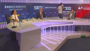 Pablo Iglesias abandona el debate electoral de la Cadena SER.
