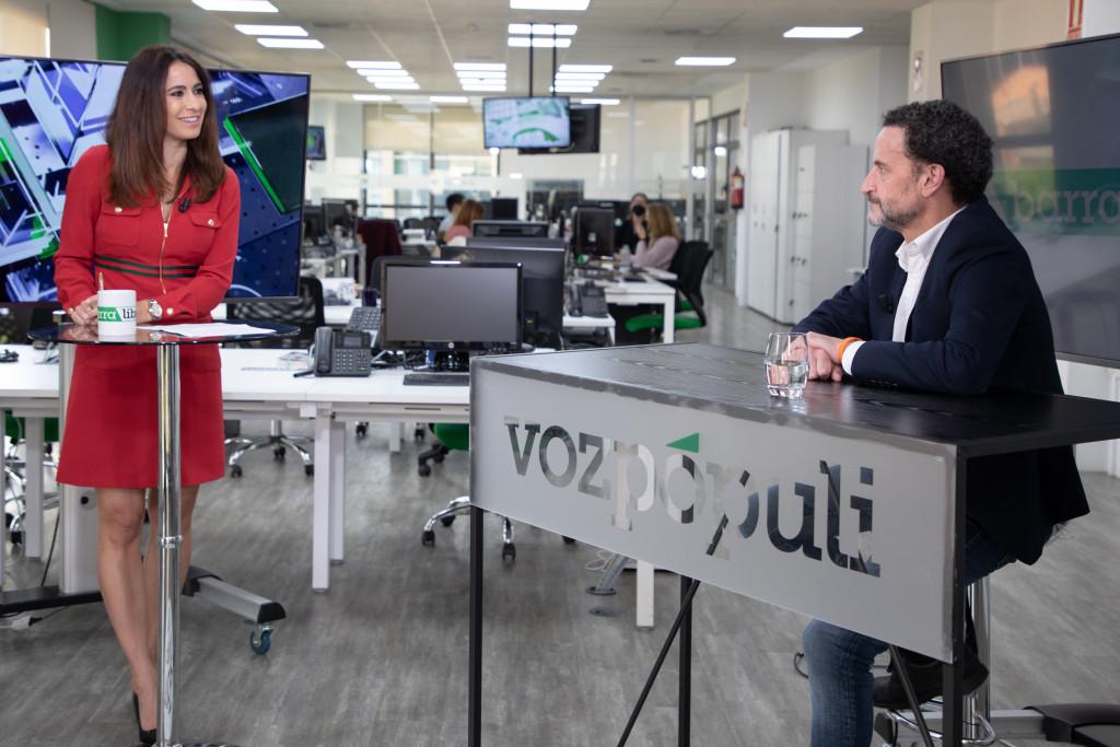 Edmundo Bal en la entrevista con Vozpópuli