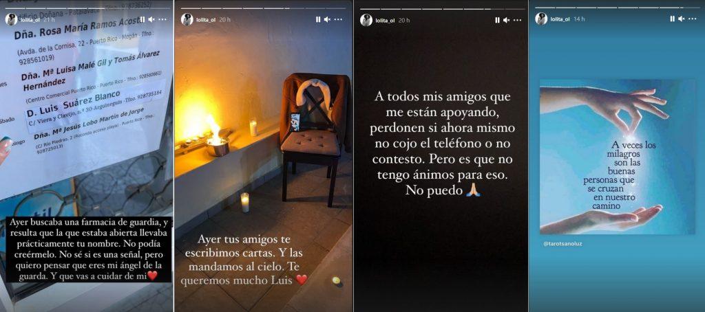 Lola Ortiz ha escrito varios mensajes recordando a su novio