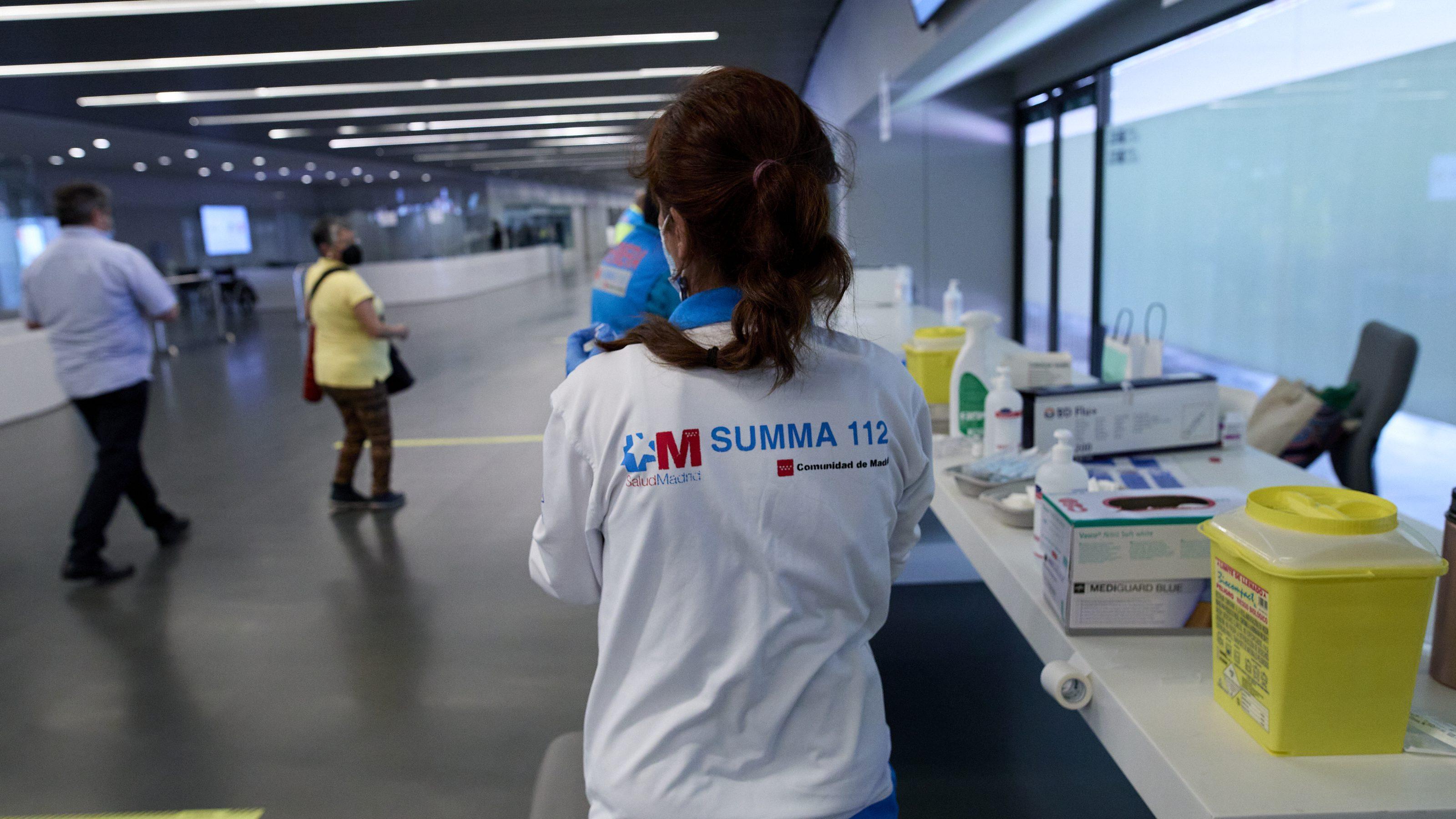 Centro donde se ponen vacunas en Madrid
