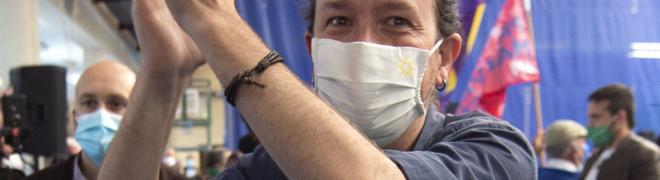 El candidato de Unidas Podemos a la Presidencia de la Comunidad, Pablo Iglesias.