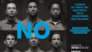 """Los tenistas dicen """"no"""" al maltrato en una nueva iniciativa de la Fundación Mutua Madrileña"""