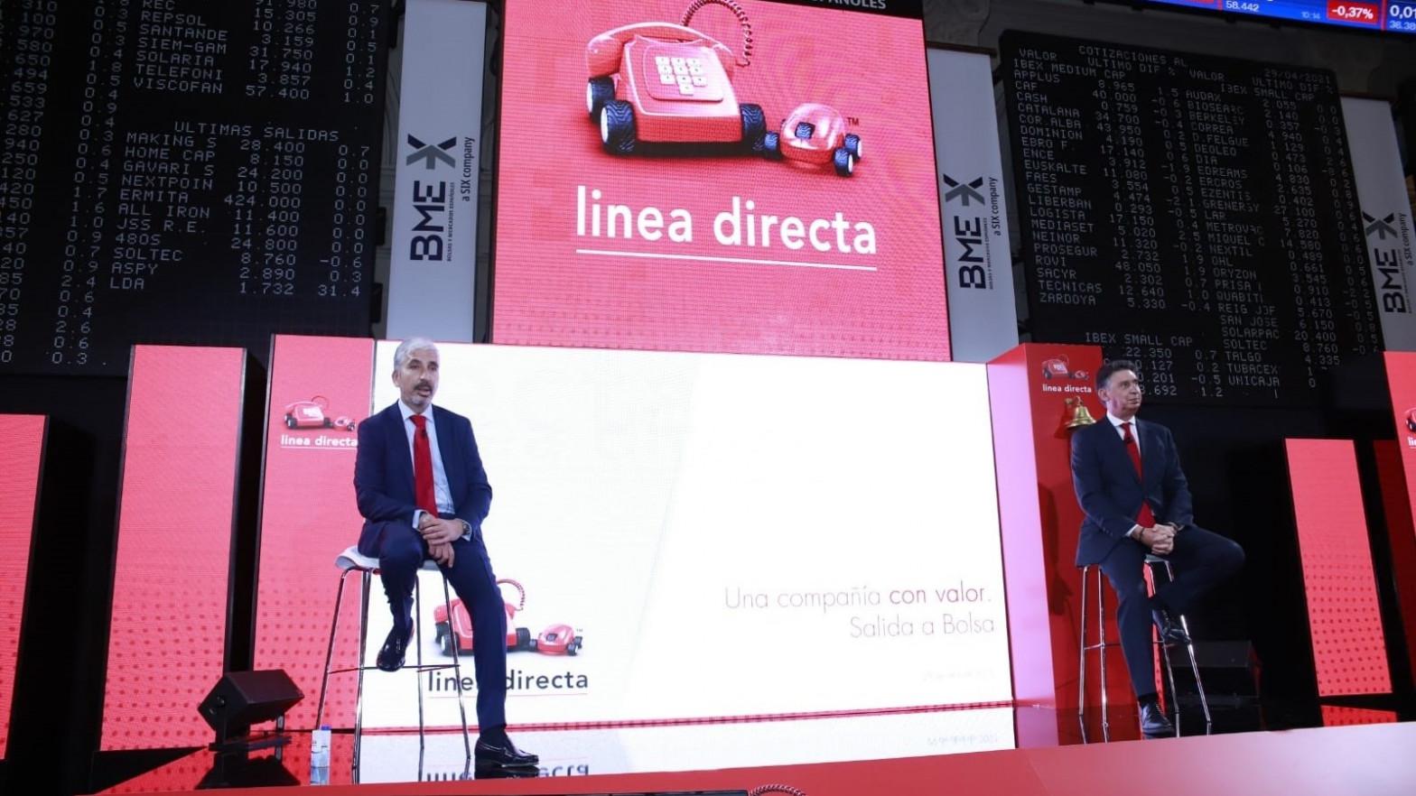 Las acciones de Línea Directa se disparan un 30% en su estreno en la Bolsa