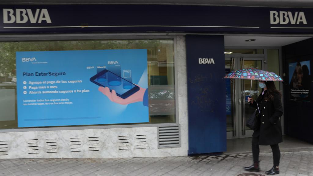 Una de las sucursales de BBVA en Madrid.