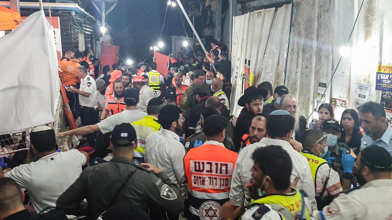 Al menos 44 muertos y 150 heridos en un festival religioso judío ultraortodoxo en Israel