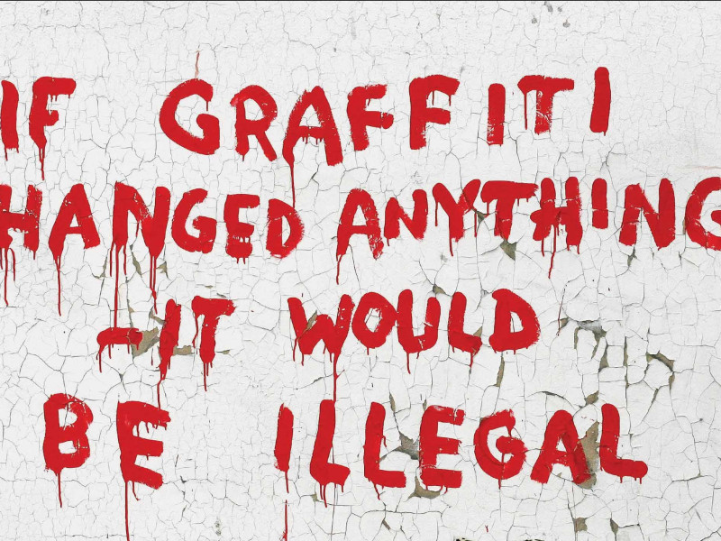 Popular obra del artista callejero Banksy