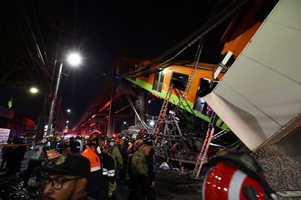 Accidente de metro en Ciudad de México.