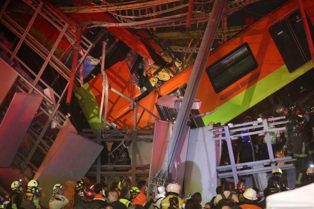 Accidente en un metro de Ciudad de México.