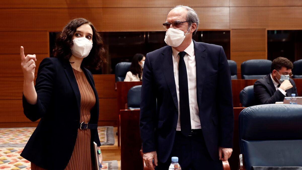 Ayuso visitará a Gabilondo en el hospital tras su ingreso por un problema cardíaco