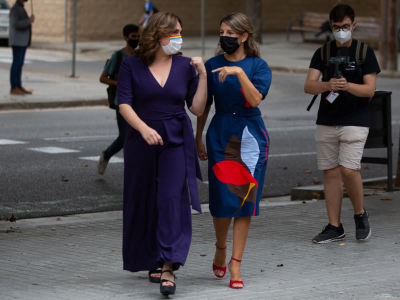 Yolanda Díaz, Colau y Errejón activan los puentes tras la salida de Iglesias