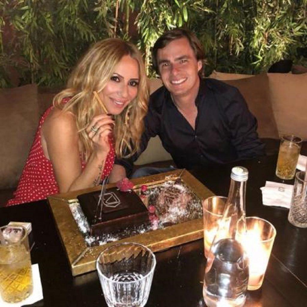Marta Sánchez, con su novio Federico León