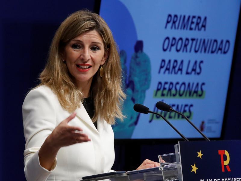 Yolanda Díaz endurece su postura con la reforma laboral para ocupar el rol de Iglesias