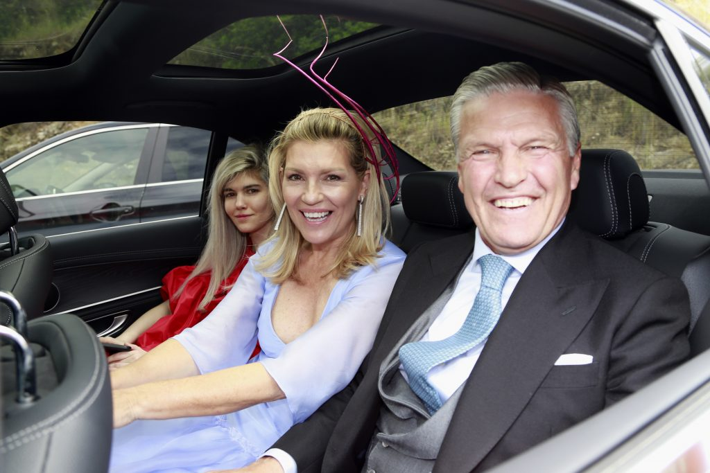 Espartaco, Patricia Rato y su hija Isabella, en la boda de Alejandra Ruiz Rato