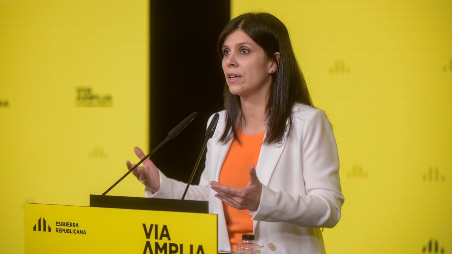 La secretaria general adjunta y portavoz de ERC, Marta Vilalta.