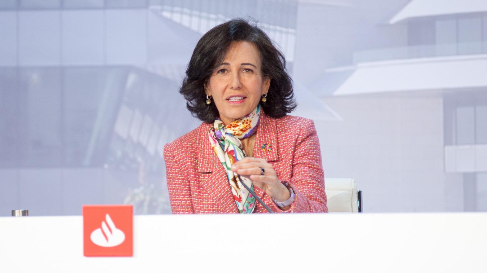 La presidenta de Banco Santander, Ana Botín,