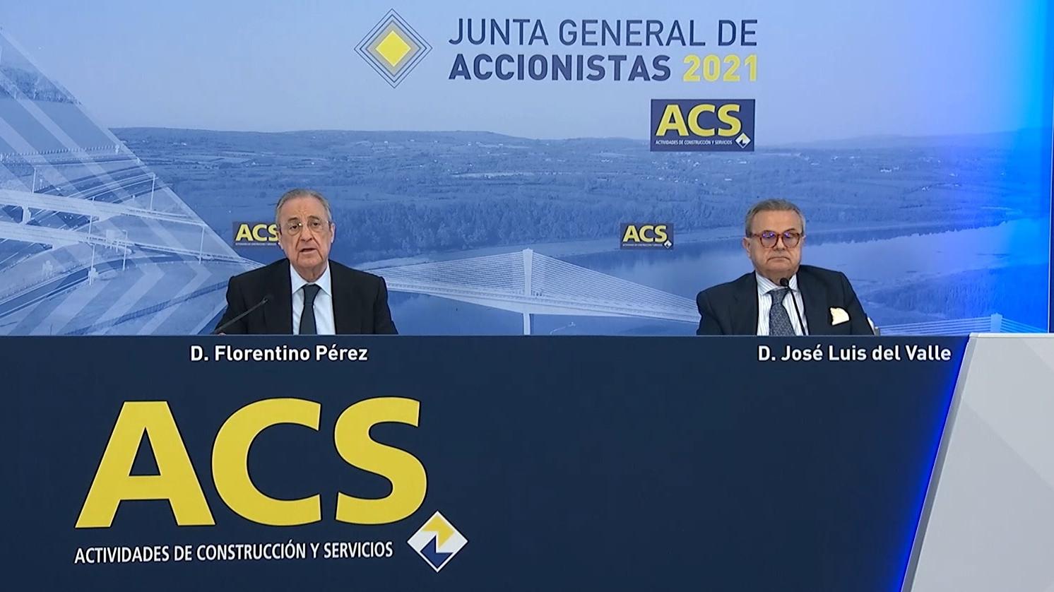 La mitad de los accionistas de ACS desaprueban el salario del consejo de Florentino Pérez