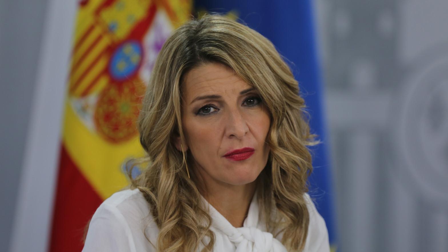 a vicepresidenta tercera y ministra de Trabajo y Economía, Yolanda Díaz.