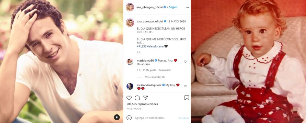 Ana Obregón le rinde un emotivo homenaje a su hijo Álex Lequio por el aniversario de su muerte