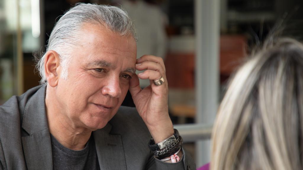 Juan Ramón Lucas en la entrevista con Vozpópuli