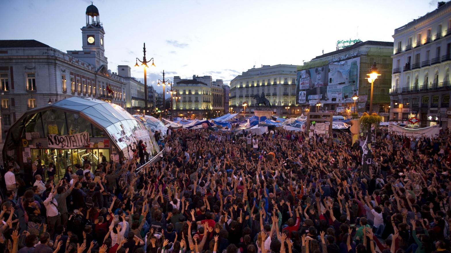Diez años del 15-M en la Puerta del Sol, en imágenes