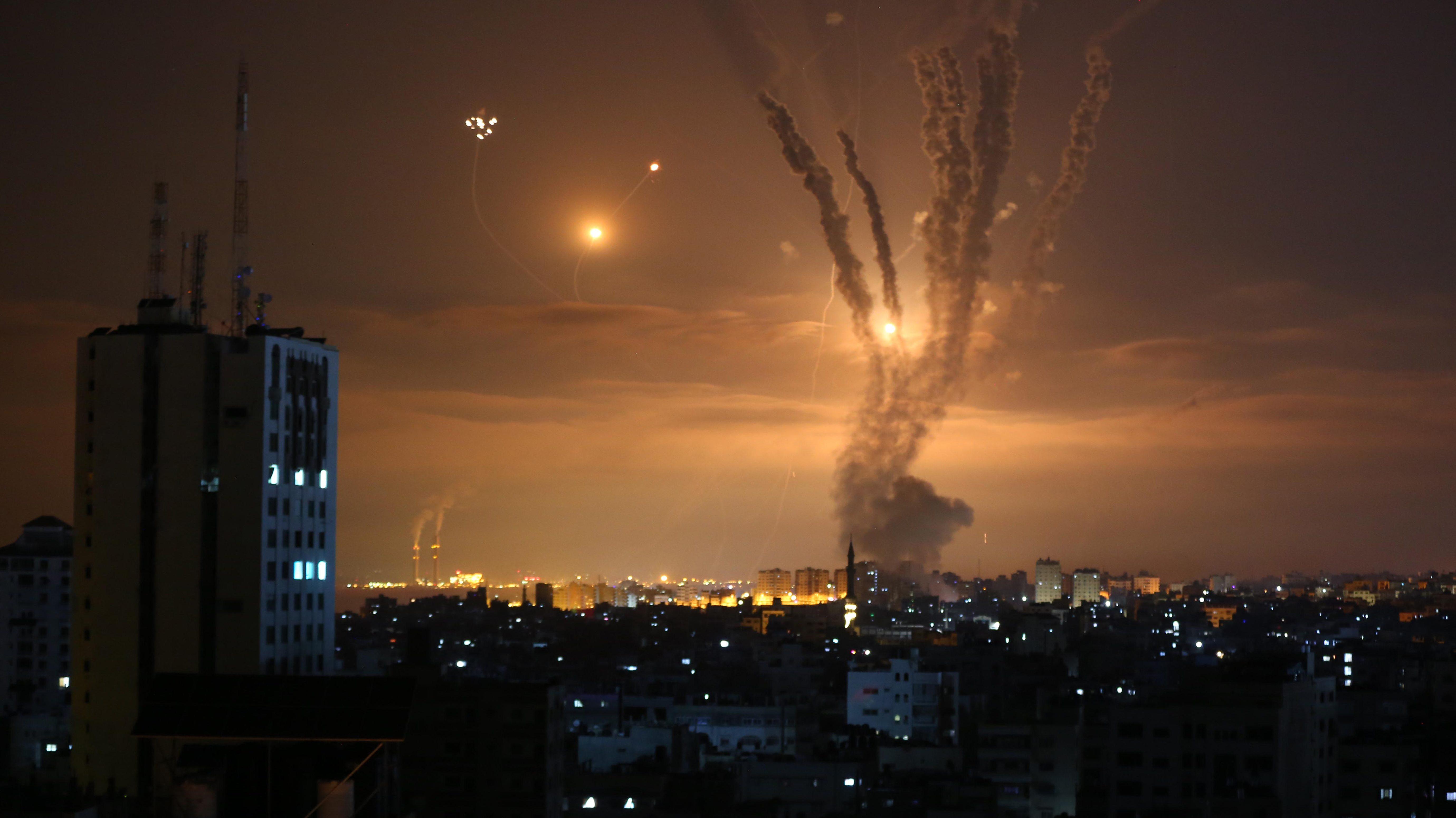 Ataques aéreos de Israel en Gaza.