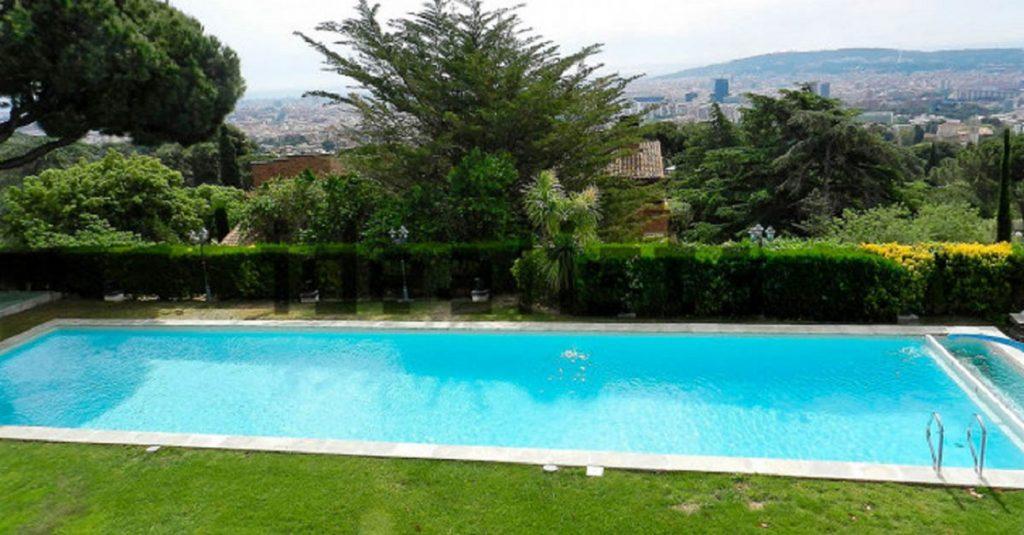La piscina de la casa de Guardiola.