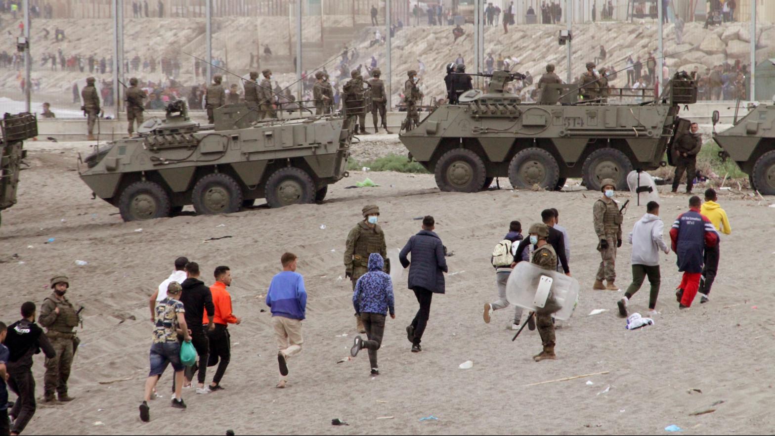 Los vídeos que demuestran la permisividad de Marruecos en la entrada masiva a Ceuta