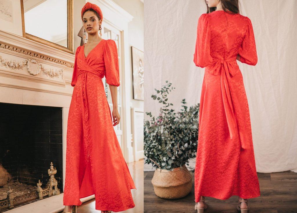 El vestido rojo de Tamara Falcó es de la marca sevillana Cherubina