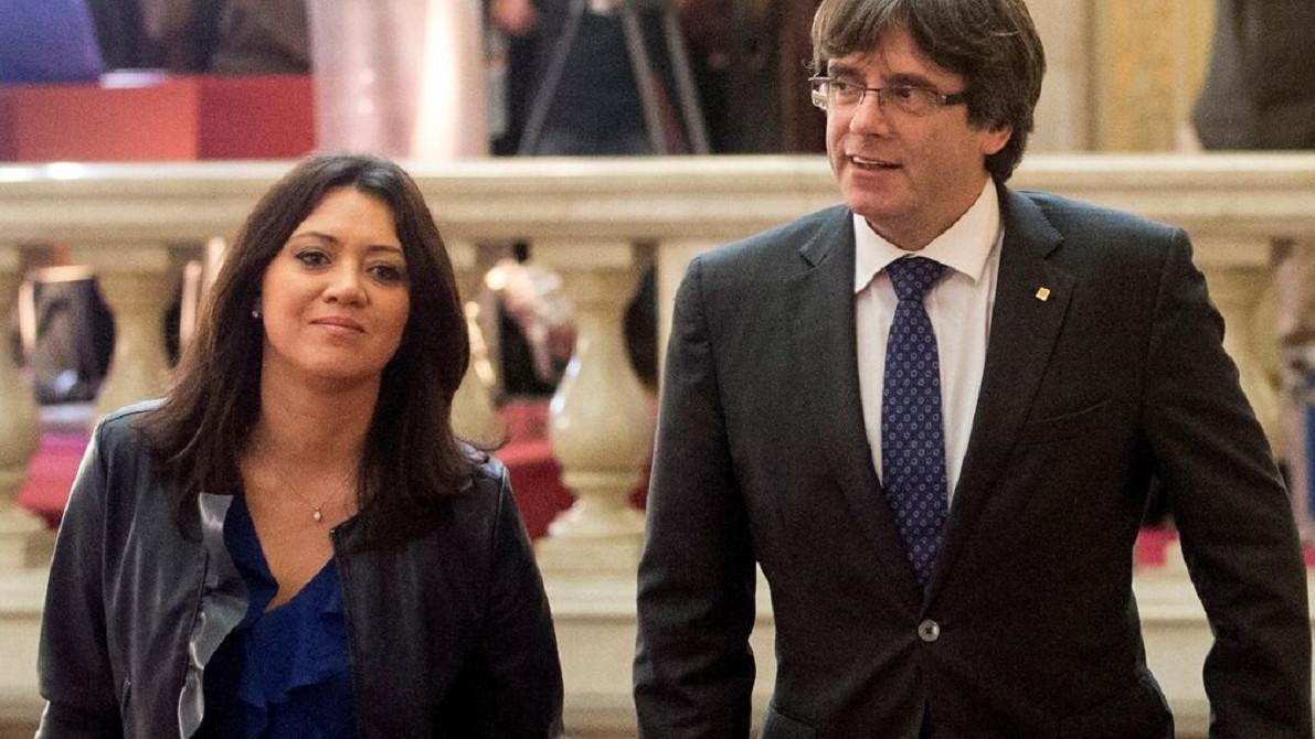 La mujer de Puigdemont gana 6.000 euros al mes por ocho horas, dinero que sale del erario público