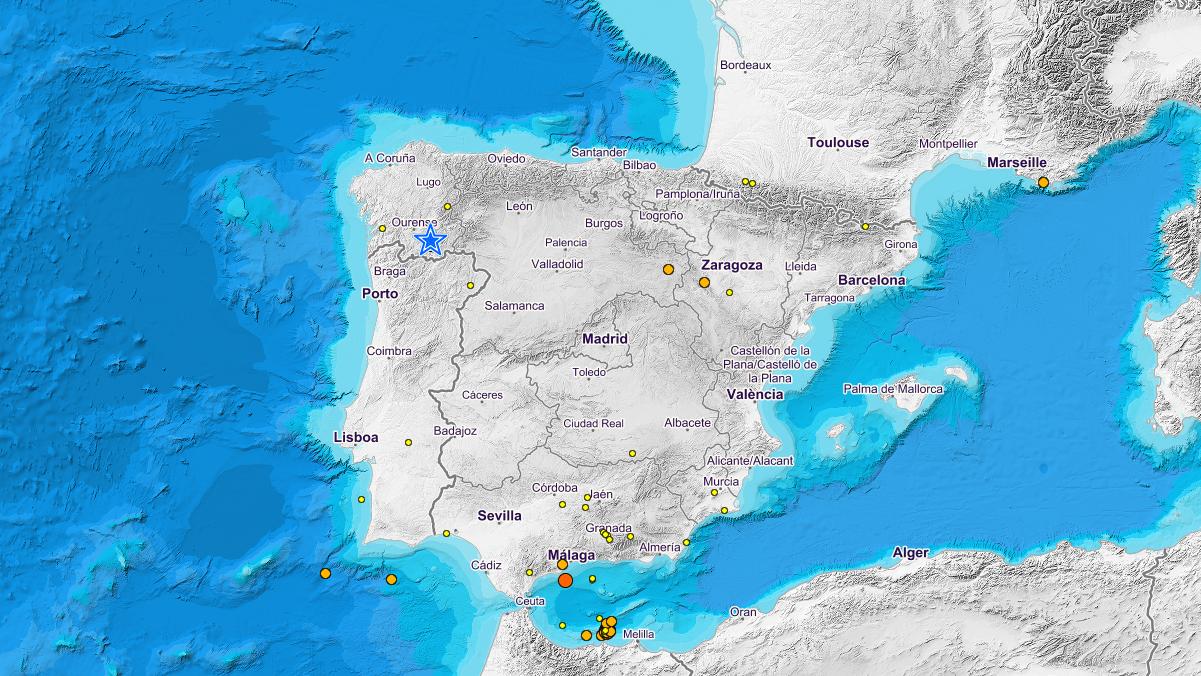 Un terremoto sacude Laza (Orense) con una magnitud de 3,9 grados