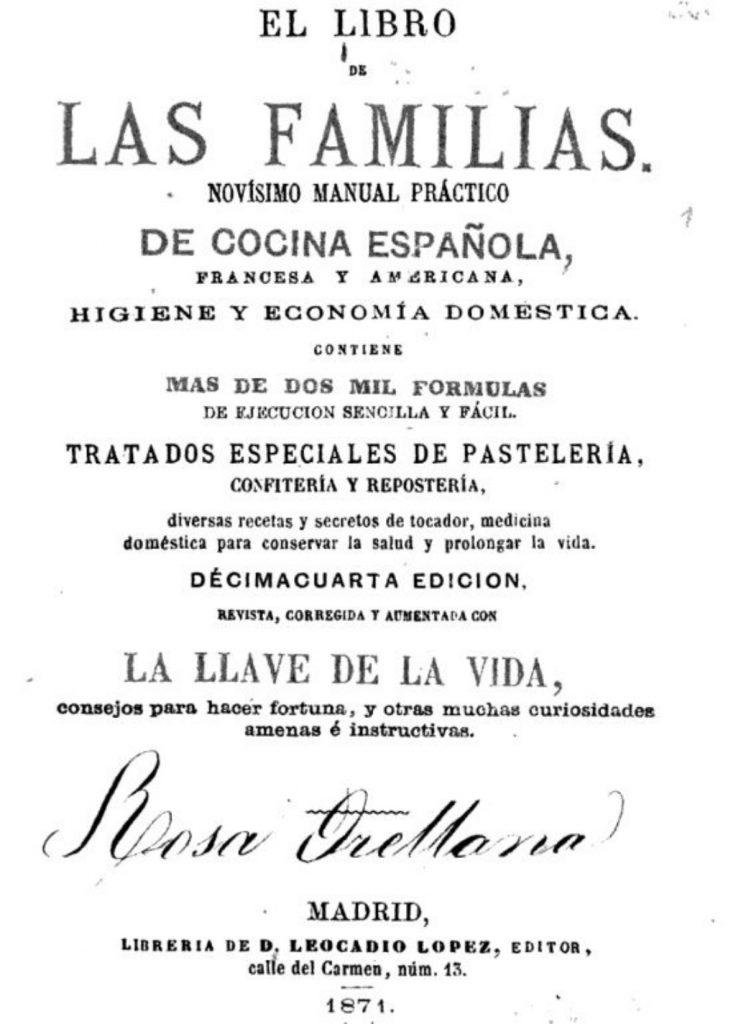 'Novísimo manual práctico de cocina española'