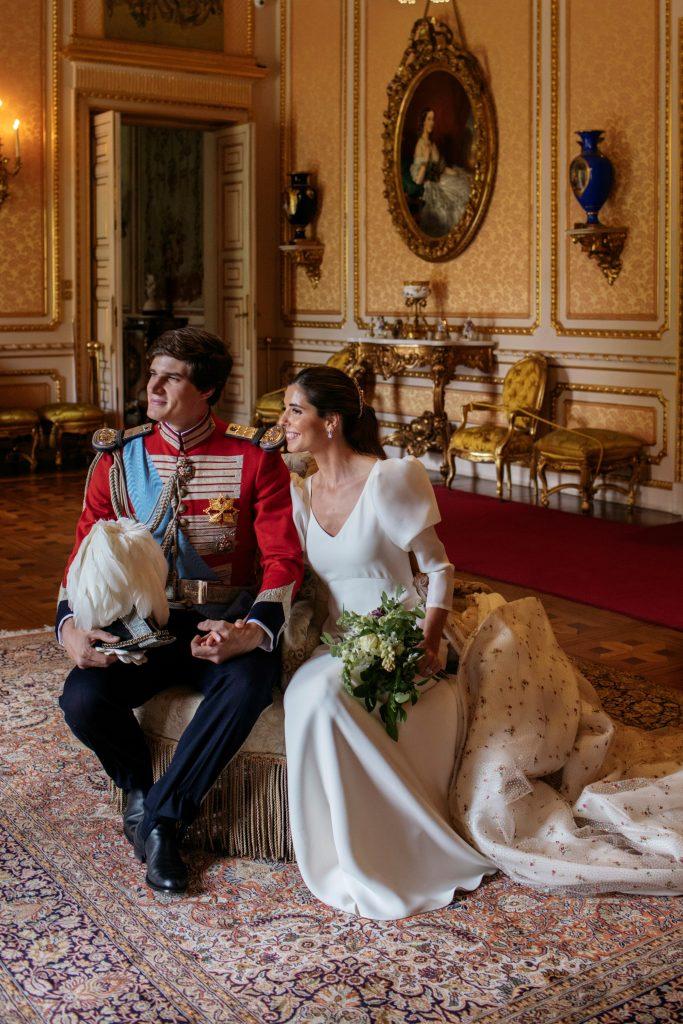 Carlos Fitz-James Stuart y Belén Corsini tras contraer matrimonio