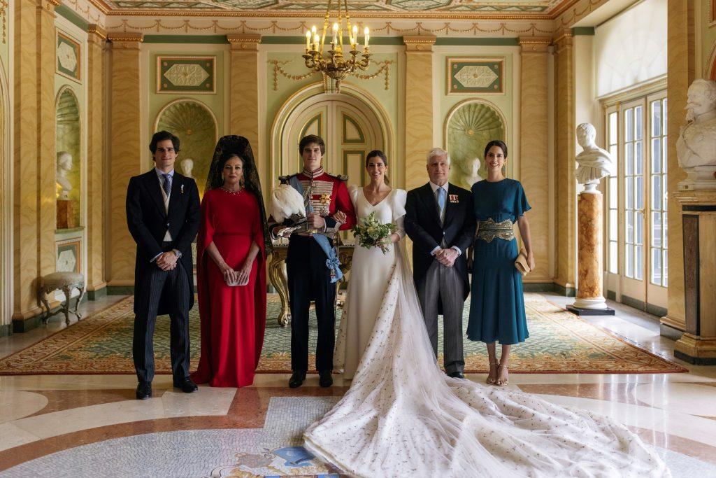 Familiares de los novios, Carlos Fitz-James Stuart y Belén Corsini