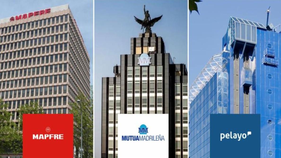 Las sedes de Mapfre, Mutua y Pelayo.